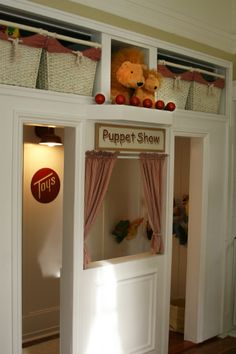 Cute little puppet room for kids... found this in a daycare in Grass Valley, CA.