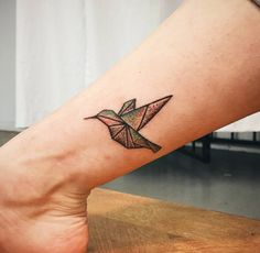 Handpoked Hummingbird Tattoo by Black Spot