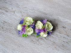 polymer Clay earrings, fimo flower earrings, masa flexible, cold porcelain, masa francesa, porcelana fria, porcellana freda, fondant