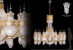 Exclusive and High Quality Chandelier K 5226 Luxury European Gold Crystal Chandelier with Swarovski Elements and Ornamental Cast, 24ct. Gold Plated by www.kny-design.com Kny Design Austria is a leading European designer and manufacturer of decorative lighting since 1956 Swarovski, Decorative Lighting, Led, Light Decorations, Austria, It Cast, Chandelier, Ceiling Lights, Crystals