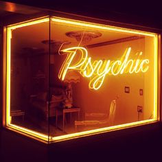 Psychic neon in San Francisco, California