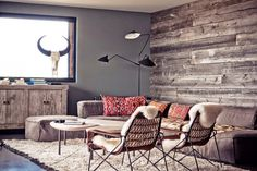 Shop the Room: A Rustic Eclectic Lounge via @domainehome