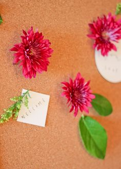 fresh flower push pins // quick and easy diy A Fabulous Fete