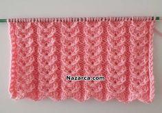 bagli-kalpler-sis-deseni Knitting Stiches, Easy Knitting Patterns, Knitting Videos, Baby Knitting, Crochet Patterns, Cardigan Design, Knit Vest, Handicraft, Lana