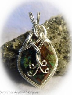 Beautiful Chrysocolla Silver Wire Wrapped by superioragates, $35.00