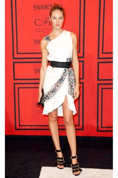 The Best Looks from the 2013 CFDA Fashion Awards -- Candice Swanepoel in Prabal Gurung