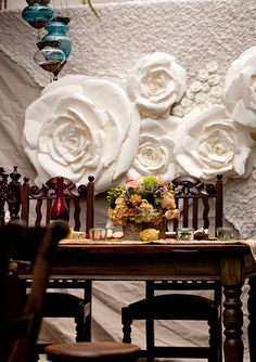 Bohemian Bloom, Paper Roses and Paper Flowers