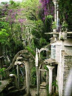 This made me think of Lord of the Rings...the Elvin City.....This surreal secluded Xanadu is hidden in the Mexican jungle...