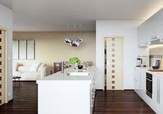 Interiérové dveře Sapeli - DAMIER dýha bříza a mahagon Alcove Bathtub, Bathroom, Alcove