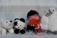 Luni wacht op de winter, lekker koud, sneeuw en ijs.