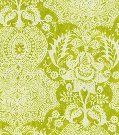 Upholstery Fabric-Williamsburg Shalimar Resist Pistachio