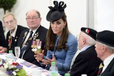 dailymail:  Duchess of Cambridge chats with D-Day veterans during a tea at Arromanches, during the 70th Anniversary Commemoration of D-Day, June 6, 2014.