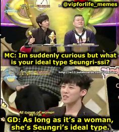 Meme Center | allkpop lol Seungri's life song right there and GD didn't even have to write that one