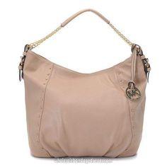 792b47a88015 Michael Kors Hamilton Large MK Logo Tote Vanilla  Handbagsmichaelkors. Michael  Kors Handbags MK 61 Series Shoulder Bags Rivet Beige WBMKHB150069