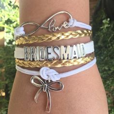 Gifts for you and your bridesmaids | Bachelorette party gifts | Bride Tribe | Over 100 styles to choose from or customize your own bracelet!