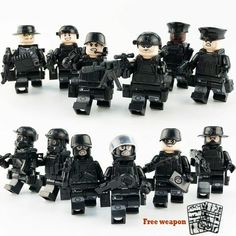 12pcs Military Special Forces Soldiers Bricks Figures Guns Weapons Ww2 Armed SWA