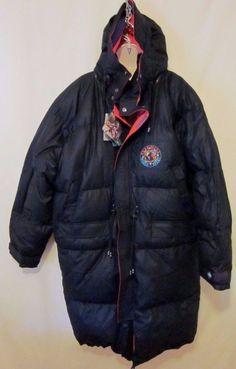 Brambilla New Long Duck Down Water Resistant Reversible XL Jacket Coat Black Red #BrambillaFrance #Puffer