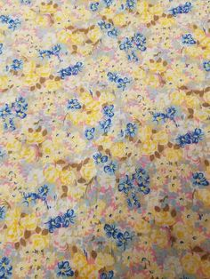 Vintage Multicolor Floral Print Cotton Fabric 45  Wide 2.5 Yards VF3 Lovely cotton blend floral print.   No damage that I can see.  See photos for actual condition.   https://nemb.ly/p/HktdSIh6l Happily published via Nembol