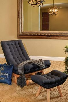 Upholstered Rocking Chairs, Stool Chair, Accent Chairs For Living Room, Foot Rest, The Fresh, Seat Cushions, Furniture Sets, Modern Design, Relax