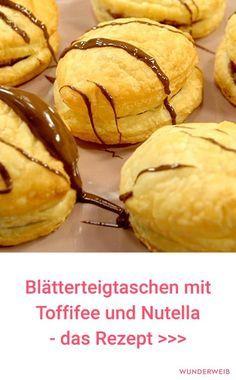 Blätterteig-Nutellaküchlein