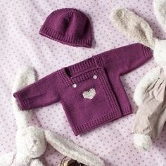 all in one knitted baby cardigan Baby Cardigan, Cardigan Bebe, Baby Pullover, Knitting For Kids, Baby Knitting Patterns, Baby Patterns, Pattern Sewing, Baby Sweaters, Girls Sweaters
