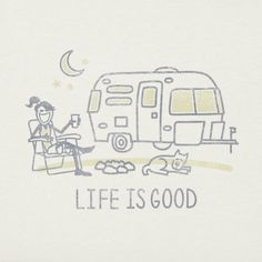 Women's Airstream Camp Crusher Tee|Life is good