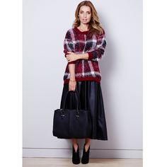 How to wear a tartan jumper and long midi skirt - Autumn/Winter Fashion Tips | Good Housekeeping