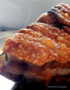 Food for thought: Χοιρινό ψητό με τραγανή πέτσα Pancakes, Breakfast, Meals, Food, Morning Coffee, Meal, Essen, Pancake, Yemek