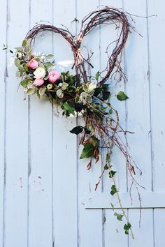 A silver birch heart dressed with seasonal spring flowers and foliage for an April wedding. by Tuckshop Flowers, Birmingham wedding fall ideas / april wedding / wedding color pallets / fall wedding schemes / fall wedding colors november Wedding Wreaths, Wedding Flowers, Wedding Decorations, Spring Decorations, Wedding Dresses, Wedding Heart Wreath, Twig Wedding Centerpieces, Bridesmaid Gowns, Outdoor Decorations