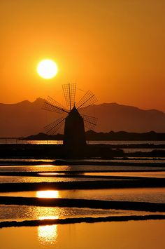 This moment... entre chien et loup... -- Sunset on the mill by salvatore.benanti, via Flickr #sunset
