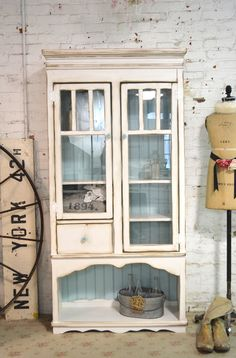Shabby Handmade One of a Kind Farmhouse Cabinet [CHN75] - $695.00 : The Painted Cottage, Vintage Painted Furniture