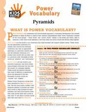 FREE, printable 16-page vocabulary packet for Kids Discover Pyramids
