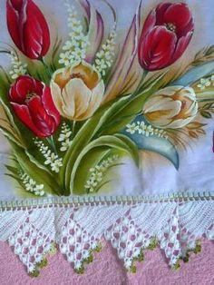 Resultado de imagen para arranjo de flores para pintura em tecido