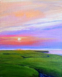 """""""Cape Sunset II"""" by Takeyce Walter 10x8"""" oil on paper - available framed. info@takeyceart.com for purchase info."""