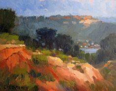 """Carmel Valley from Torrey Pines by Catherine Grawin Oil ~ 8"""" x 10"""""""