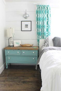 Ha!  I have this a dresser just like this painted green!   LOVE that little dresser!