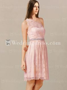 Eine Schulter lässig Brautjungfer Kleid BR441 | InWeddingDress