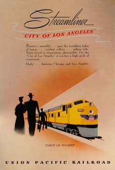Say, can I get that train pamphlet in a framed poster? That's not something you're likely to wonder about any of the marketing coming out of today's rail travel industry. I found this gorgeous vintage pamphlet design by Union Pacific Railroad and it sent me on a cyber hunt for more memorabilia from