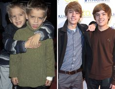 "Little ""Ben's""!!!!!  Dylan and Cole Sprouse: 1998... and now."