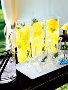 Lemonade Mojito...mint, sugar, water, club soda, vodka, lemon juice, superfine sugar