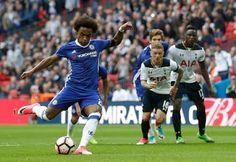 Blog Esportivo do Suíço: Com dois gols de Willian, Chelsea vence Tottenham e vai à final da Copa da Inglaterra