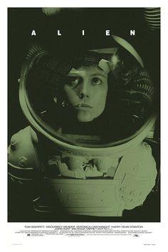 Alien alternative movie poster by TheArtOfAdamJuresko on Etsy