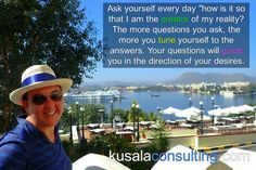 """Ask yourself every day """"how is it so that I am the creator of my reality? The more questions you ask, the more you tune yourself to the answers. Your questions will guide you in the direction of your desires. #alignment #emotions #empowerment #awareness #addiction #youchooseyourfeeling #selfrealisation #shift #perception #feelthefeeling #makeyourmindmatter #mindset #happy #ilovemylife #LOA #lifecoach #consultant #mindsetconsultant #love #loveyourself #createyourreality #speaker #digitalnomad…"""
