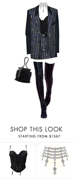 """""""Untitled #25"""" by oatmlk ❤ liked on Polyvore featuring Versace and Alexander Wang"""