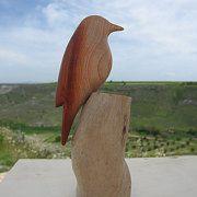 Wood Carved Wild Birds / Aves y Talla en Madera por GObirds en Etsy