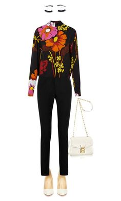 """""""Work #3"""" by ceci7486 ❤ liked on Polyvore featuring Christian Louboutin, Yves Saint Laurent, Marni and Crown Moiety"""