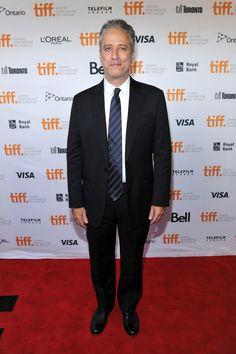 "Jon Stewart at the ""Rosewater"" premiere - TIFF Fashion"