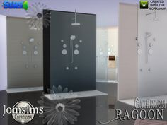 ragoon shower. modern lines. i put towels on wall glass for this shower  Found in TSR Category 'Sims 4 Showers & Tubs'