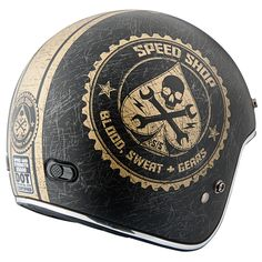 Speed Shop™3/4 Helmet| Speed and Strength - Authentic American 2014