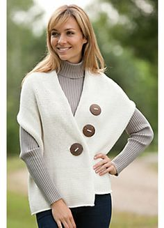 Inspiration: cool buttons and very diy-able. Women's Handmade Cotton Button Wrap